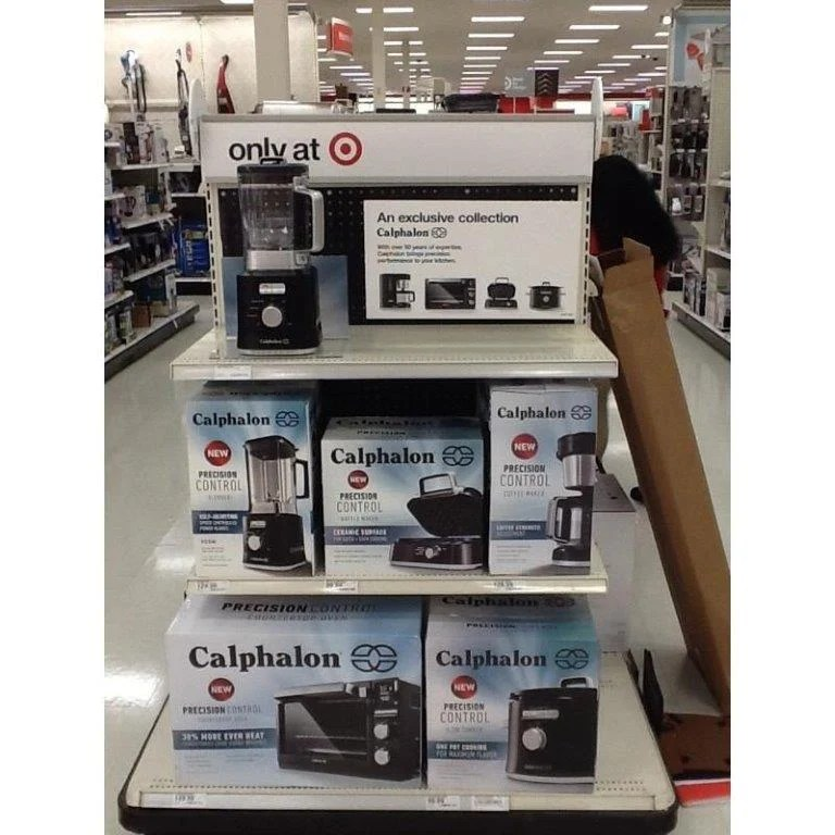 Shelf at target with Calphalon appliances