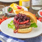Bacon Red Onion Marmalade on burger square image