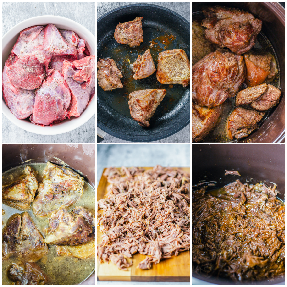 Step by step photos on how to make BBQ Beef Sandiwches