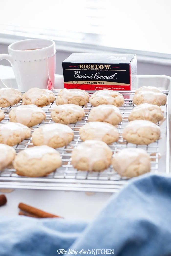 Cinnamon Tea Cakes are the kind of dessert that you arrange your day around. I have to say they are perfectly dense and oh-so-soft with a sinful cinnamon glaze! #recipe from thissillygirlskitchen.com #teacakes #southernteacakes #cinnamon #cinnamonteacakes #cookies