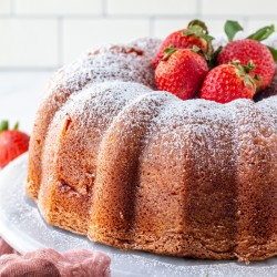 Strawberry Cheesecake Bundt Cake