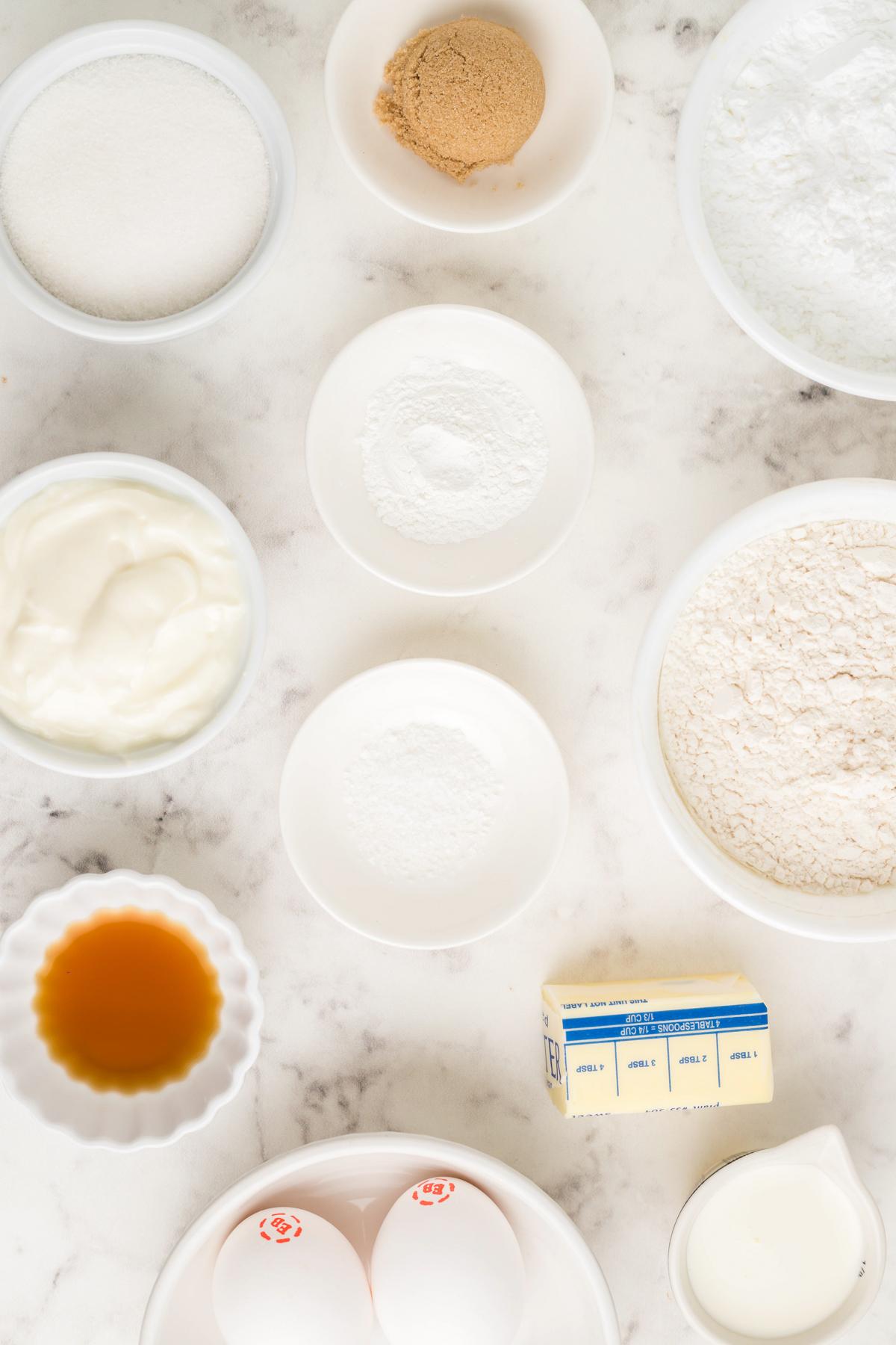 Ingredients needed to make Air Fryer Vanilla Munchkins Recipe