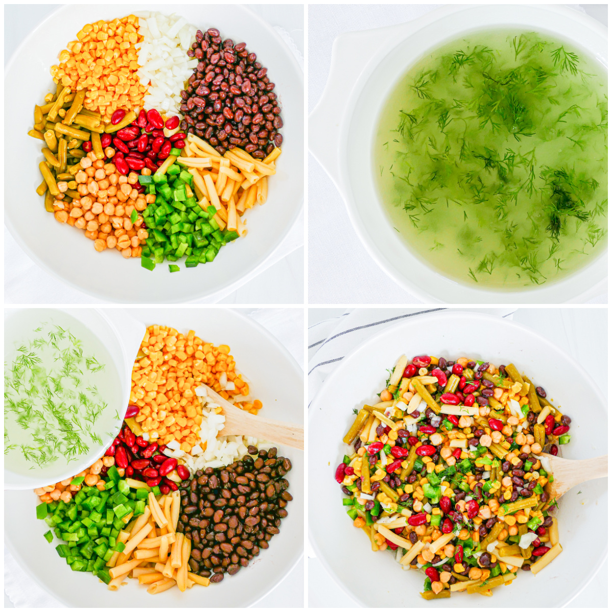 Step by step photos on how to make 5 Bean Salad