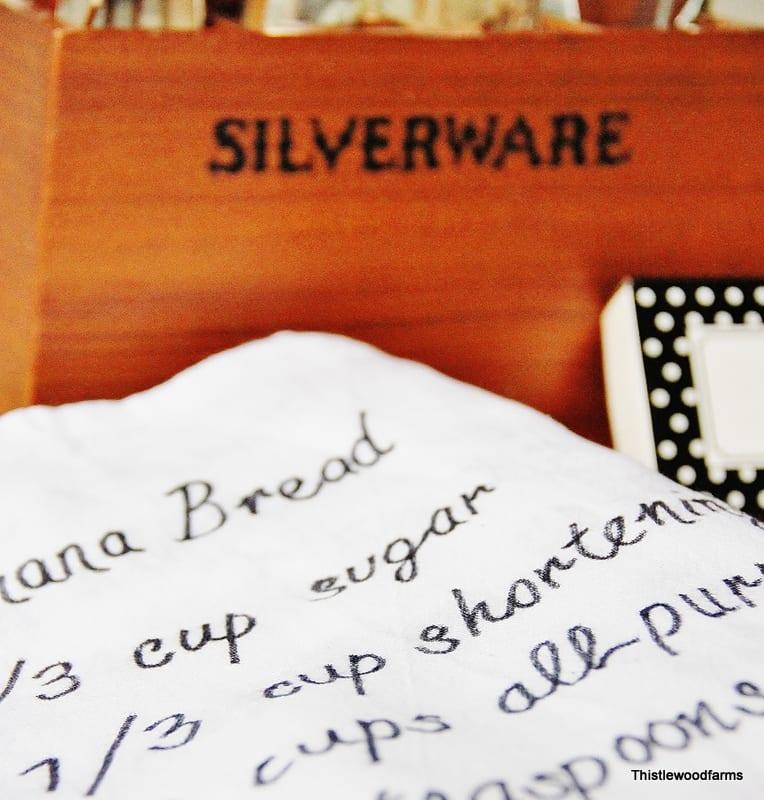Hand-written Recipe Towel