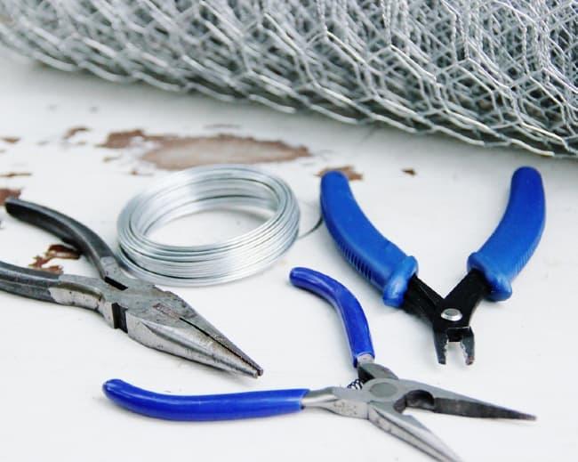 chicken wire cloche project supplies