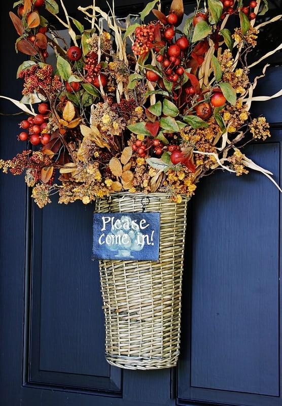 This hanging basket is beautiful on the front door