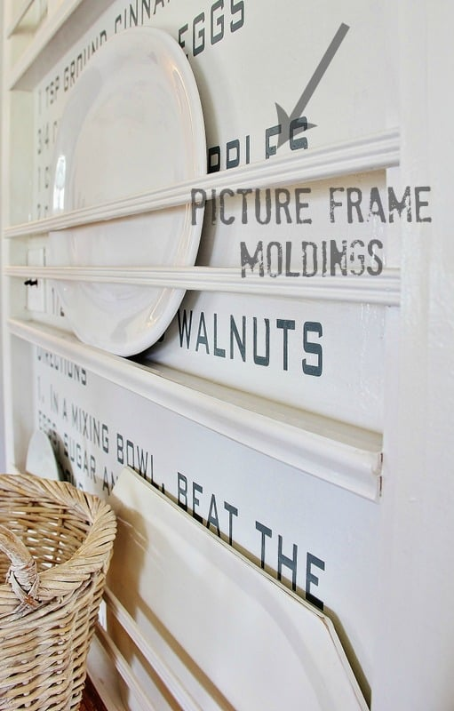 Reassemble the plate rack against the recipe wall and enjoy your new decor.