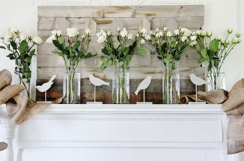These gorgeous roses and birds are perfect for spring or summer