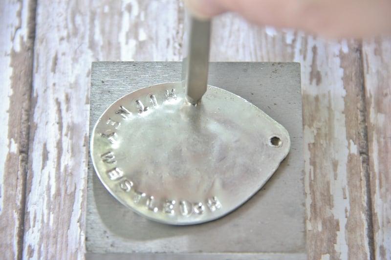 Silver stamping block