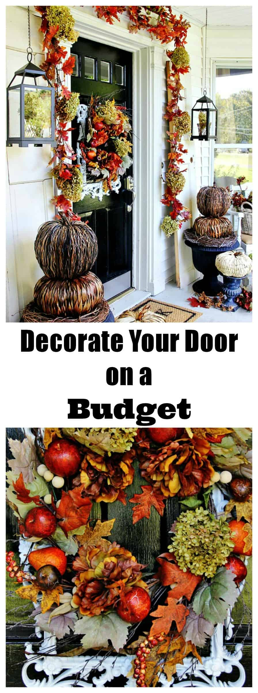 Decorate your front door for fall with these tips without breaking the bank.