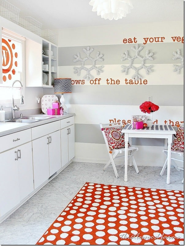 pink-and-orange-Christmas-kitchen