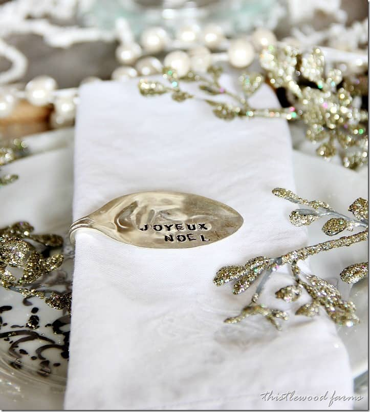 Stamped spoon napkin ring