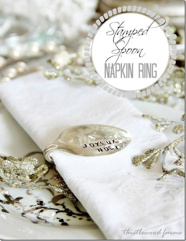 DIY Stamped Spoon Napkin Rings