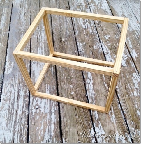 You'll use square molding to build the frame for your peg board box.