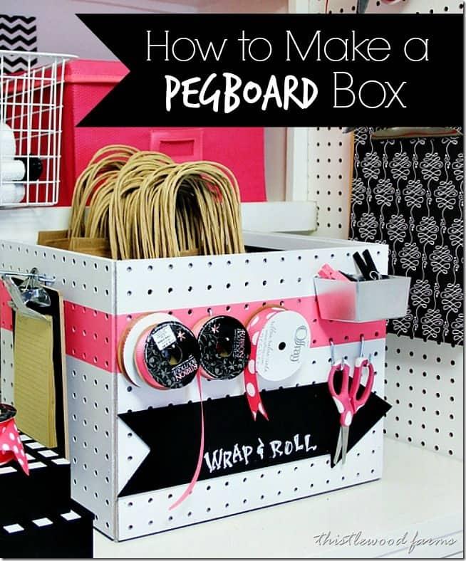How to make a pegboard box