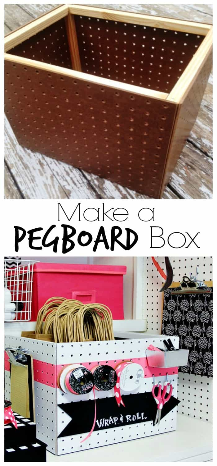 How to make your own pegboard box for your craft room
