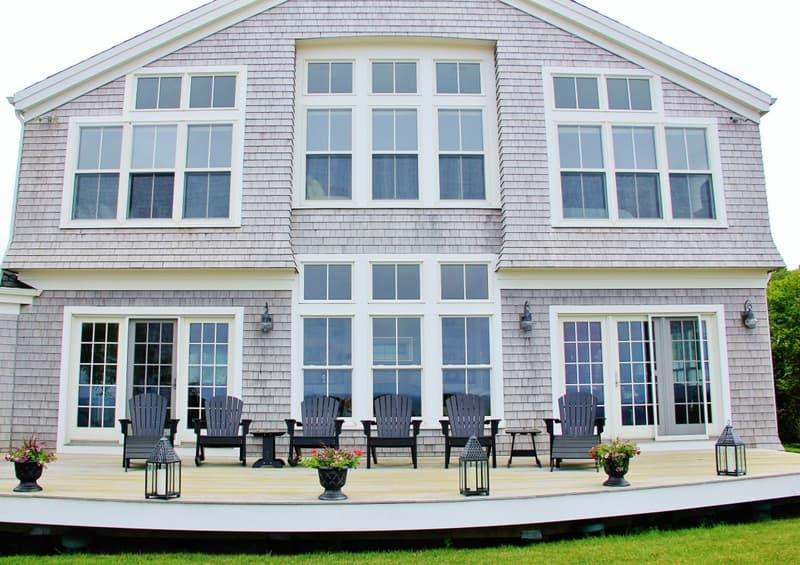 beach house outside deck