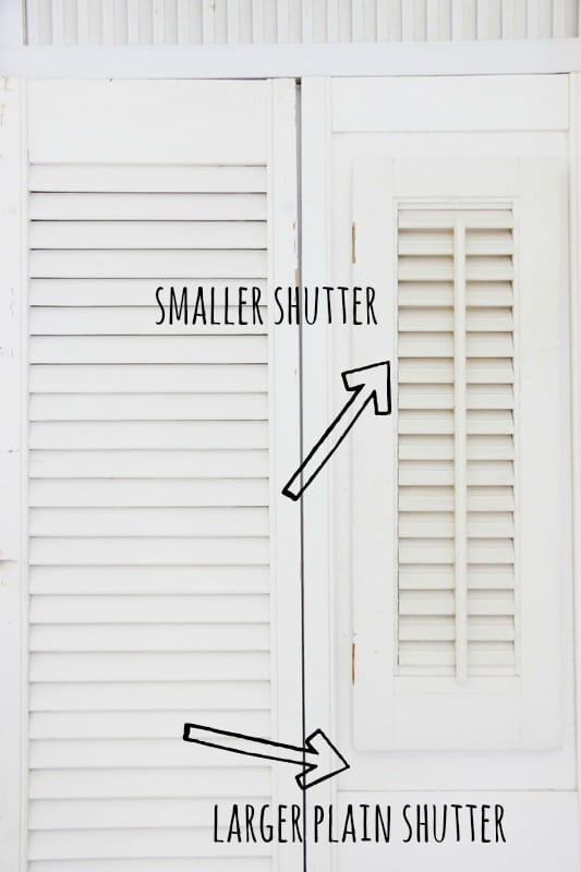 Smaller and larger shutters can be placed near each other