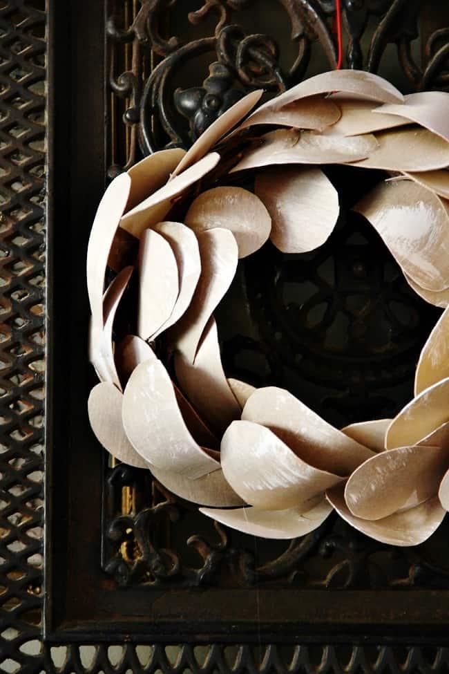 DIY this gorgeous birch bark wreath