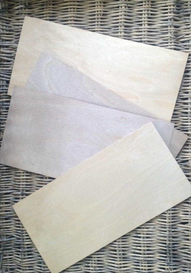 Start with birch bark plywood