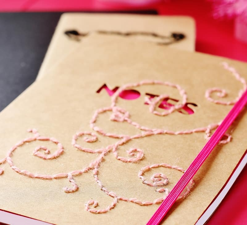 how to make a hand stitched notebook