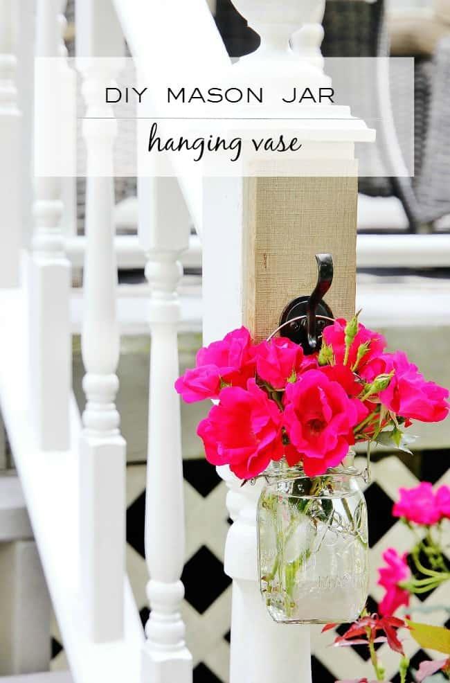 How to make your own DIY mason jar hanging vase
