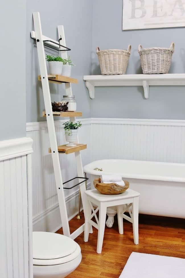 farmhouse bathroom ladder