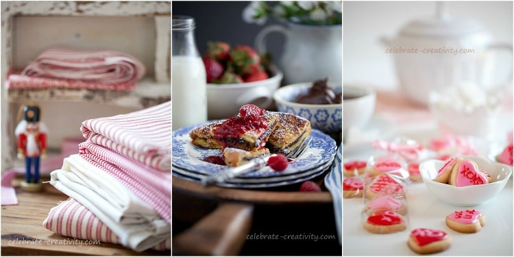 Layer items like napkins, plates and cookies to give the photo depth