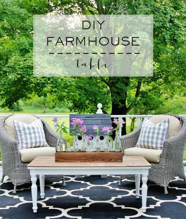 DIY Farmhouse Table Project