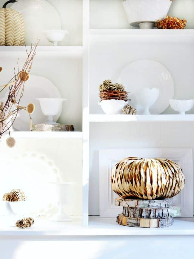 fall decorating with neutrals
