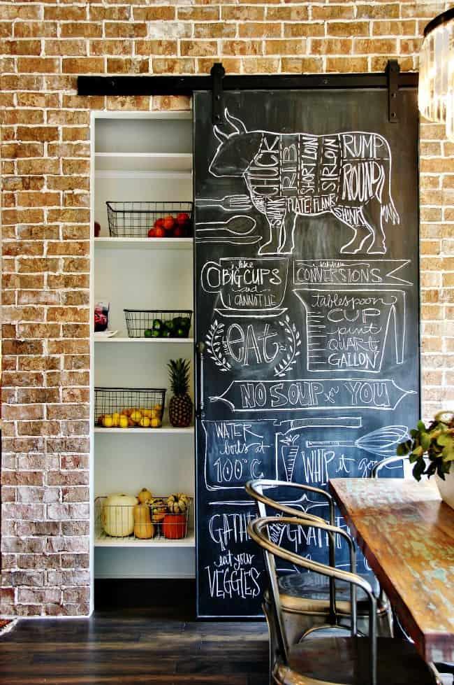 sliding door chalkboard