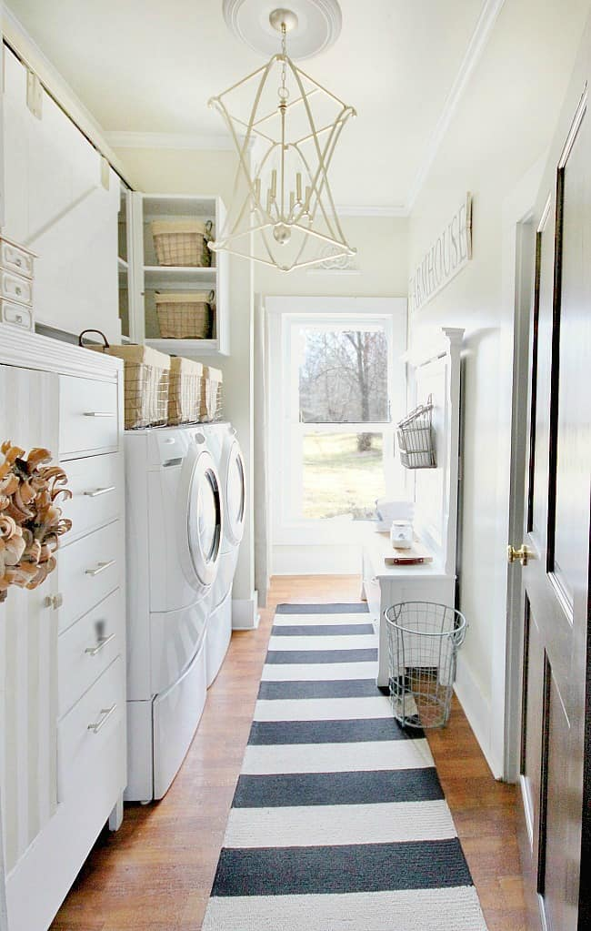 Laundry room accents