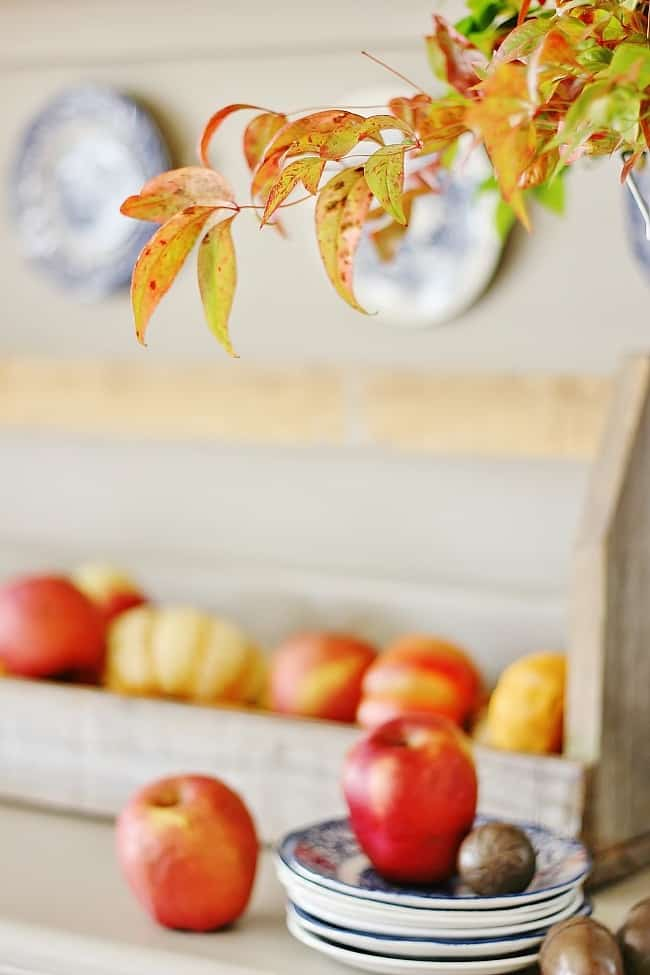 branches-and-apples how to decorate a fall hutch