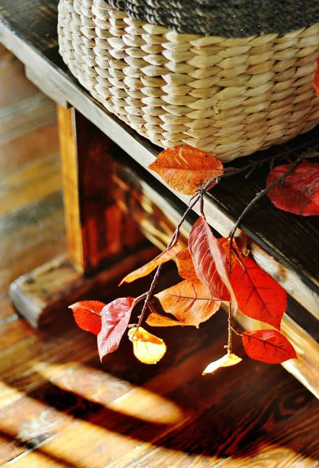 fall-leaves how to decorate a fall hutch