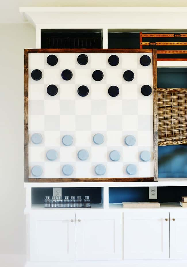 Here's the oversize game board in the room