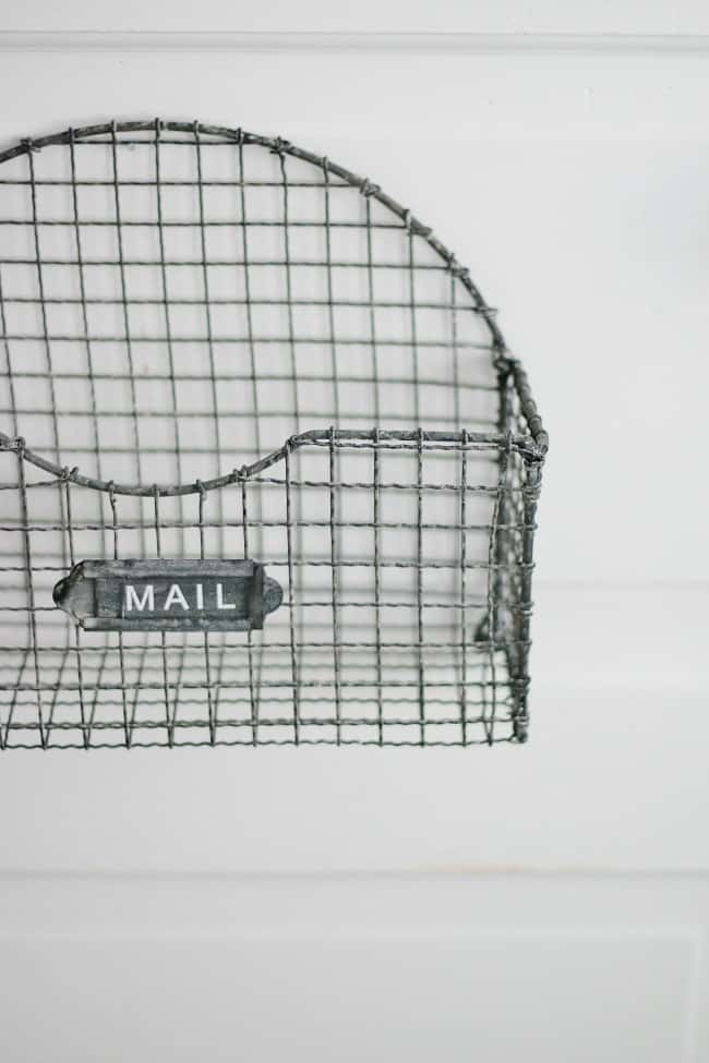 Simple details like this adorable mail carrier add character and charm