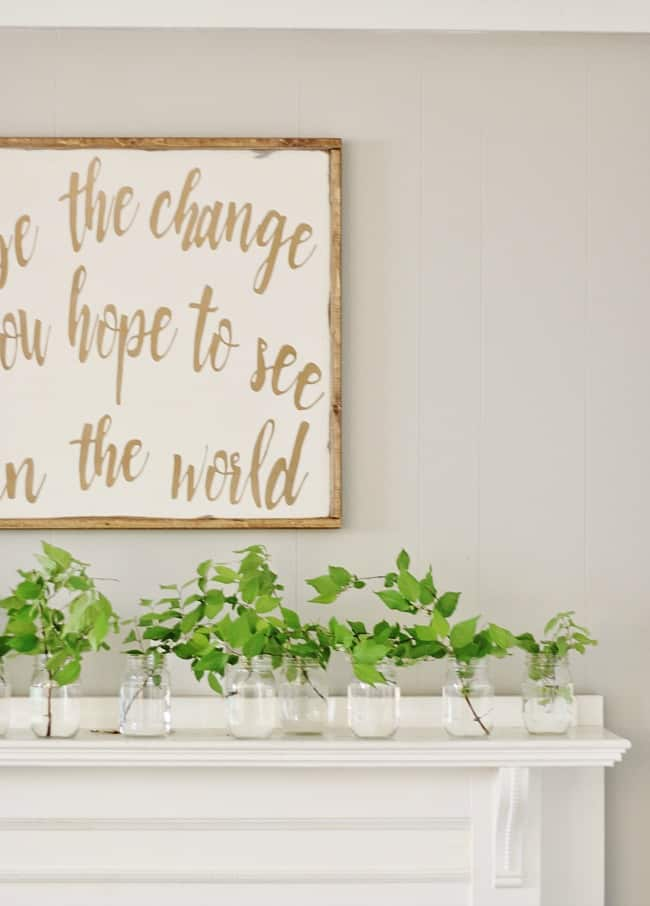 how decorate for spring spring mantel