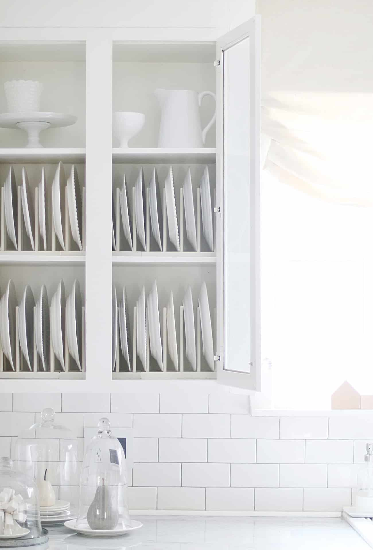 plates on shelf