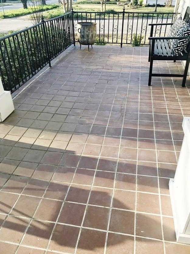 painted brick steps