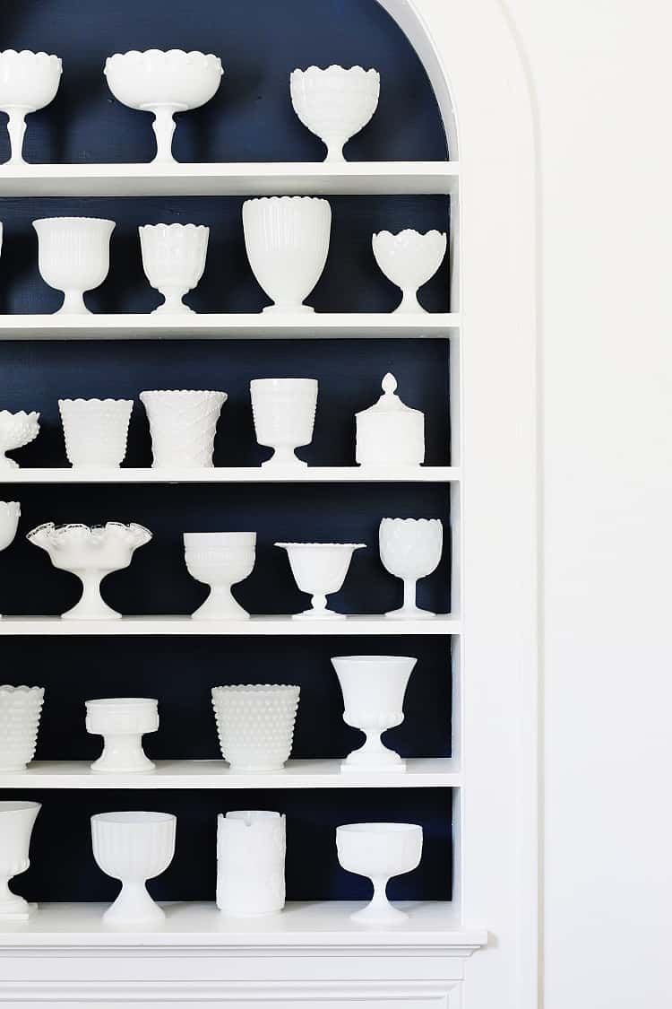 decorating with vintage finds milk glass