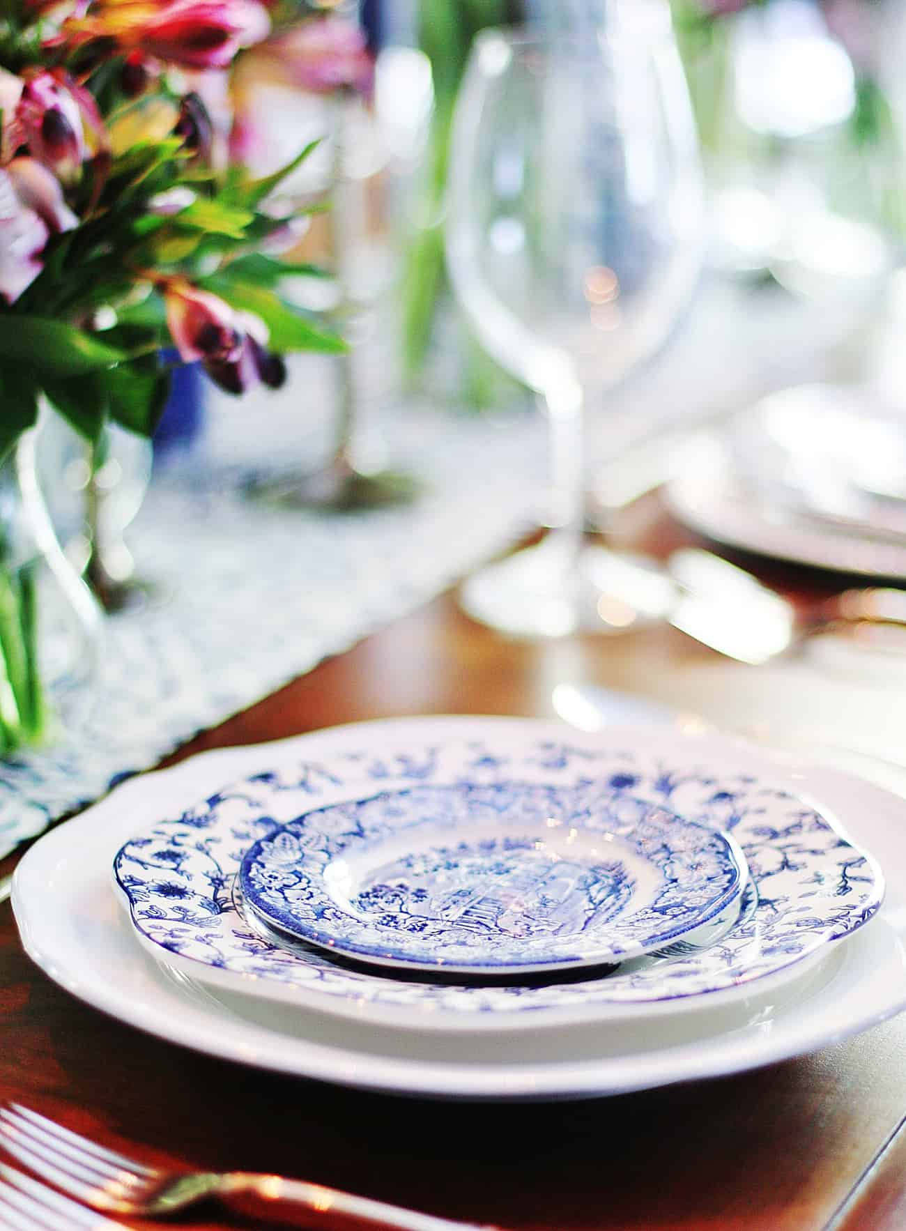 plates on table