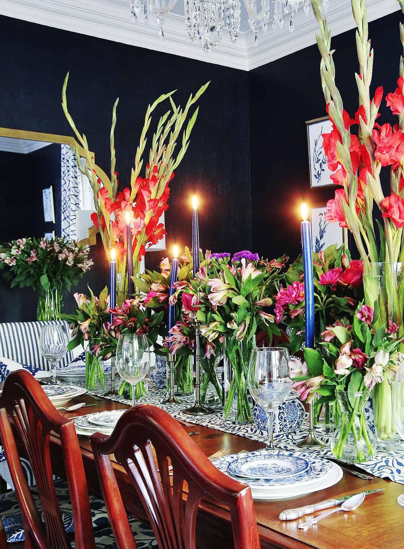 fancy dinner table