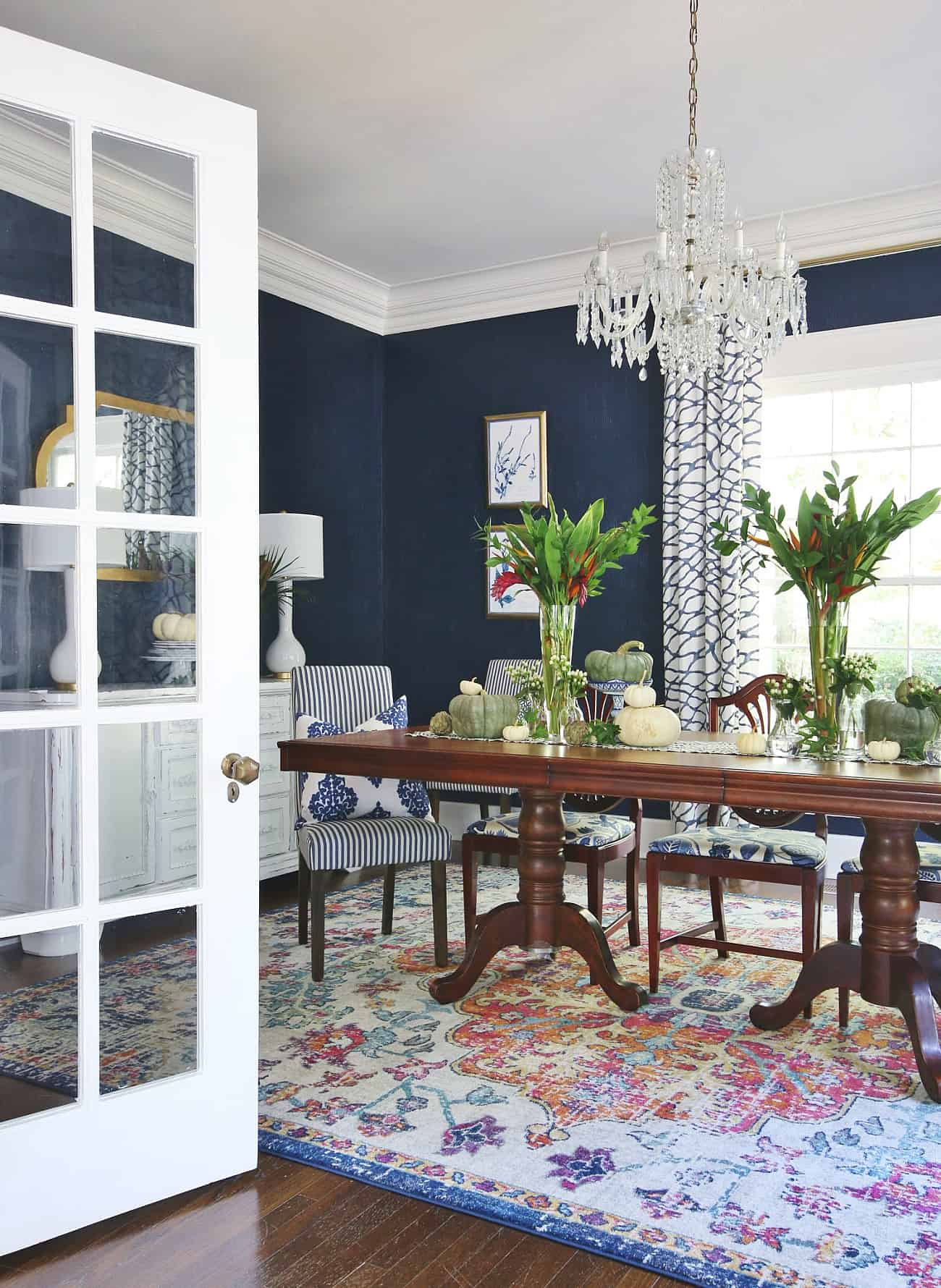 Fall Dining Room Decorating