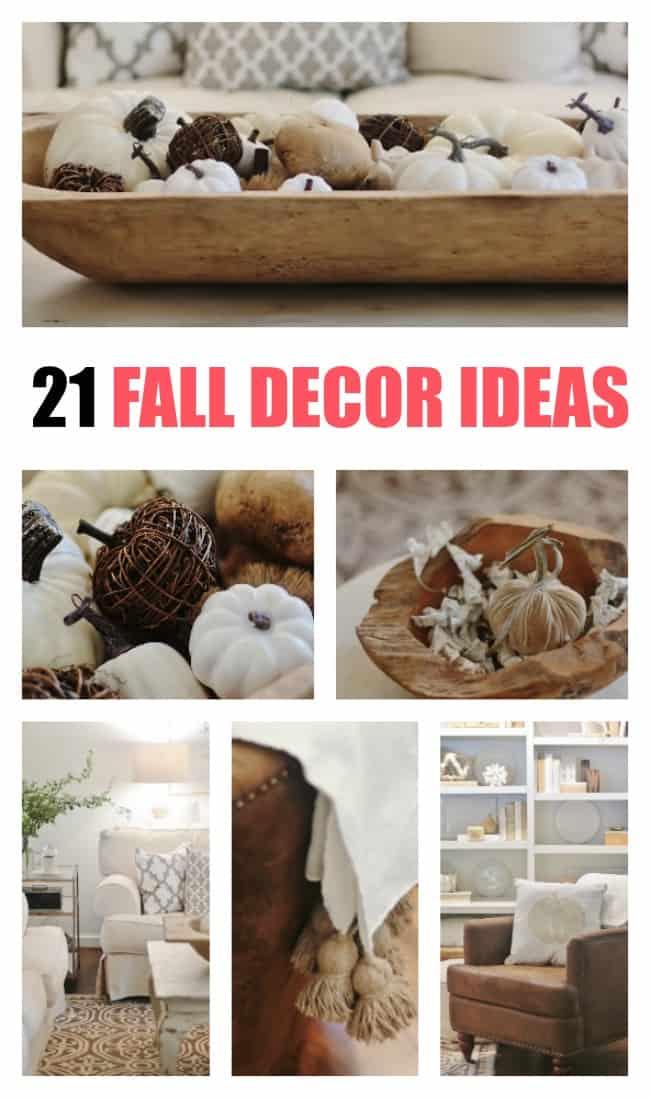 fall decor ideas promo graphic