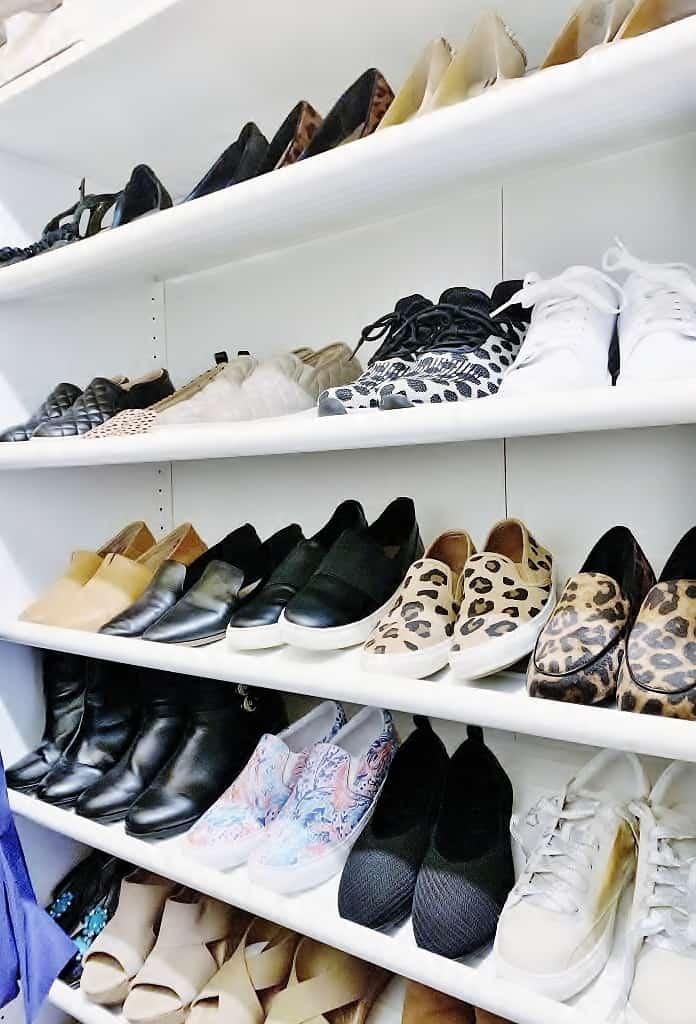 shoes on shelf