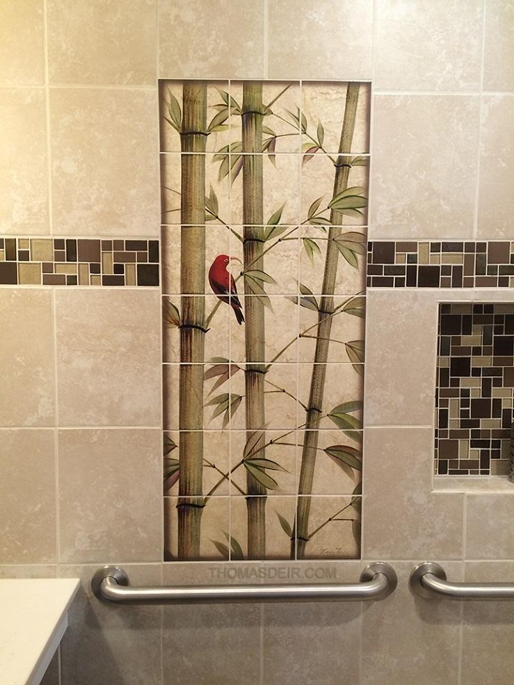 Asian Bamboo Bath And Shower Tile Murals Thomas Deir