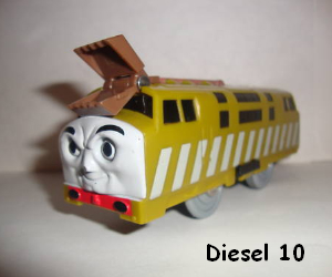 Diesel 10 coloring pages   Coloring pages with Diesel 10   Thomas     Diesel 10 battery operated train