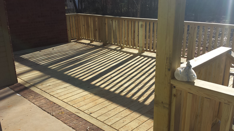 Wooden Deck Extension Thompson Builders