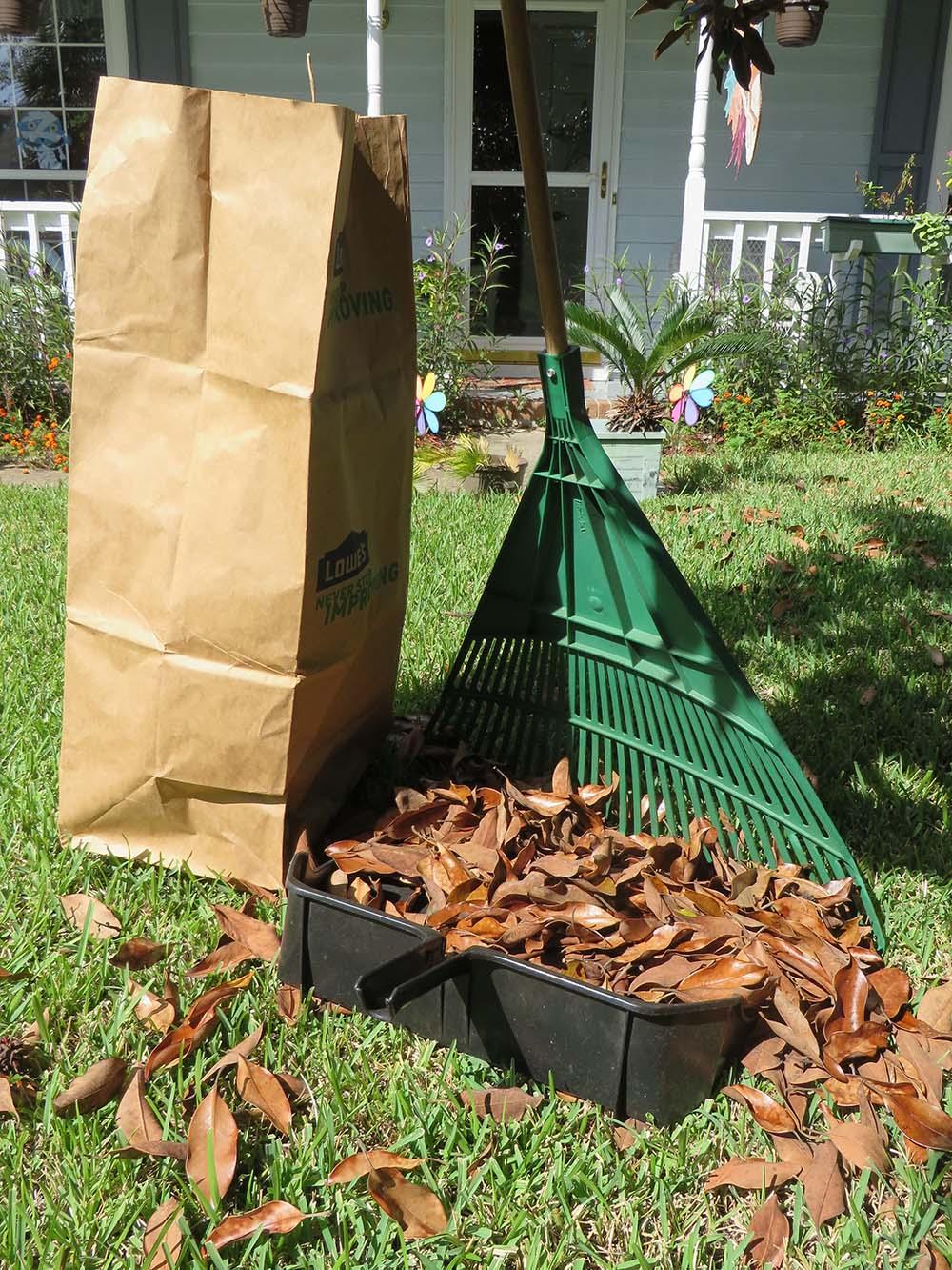 Easy Way Rake Leaves