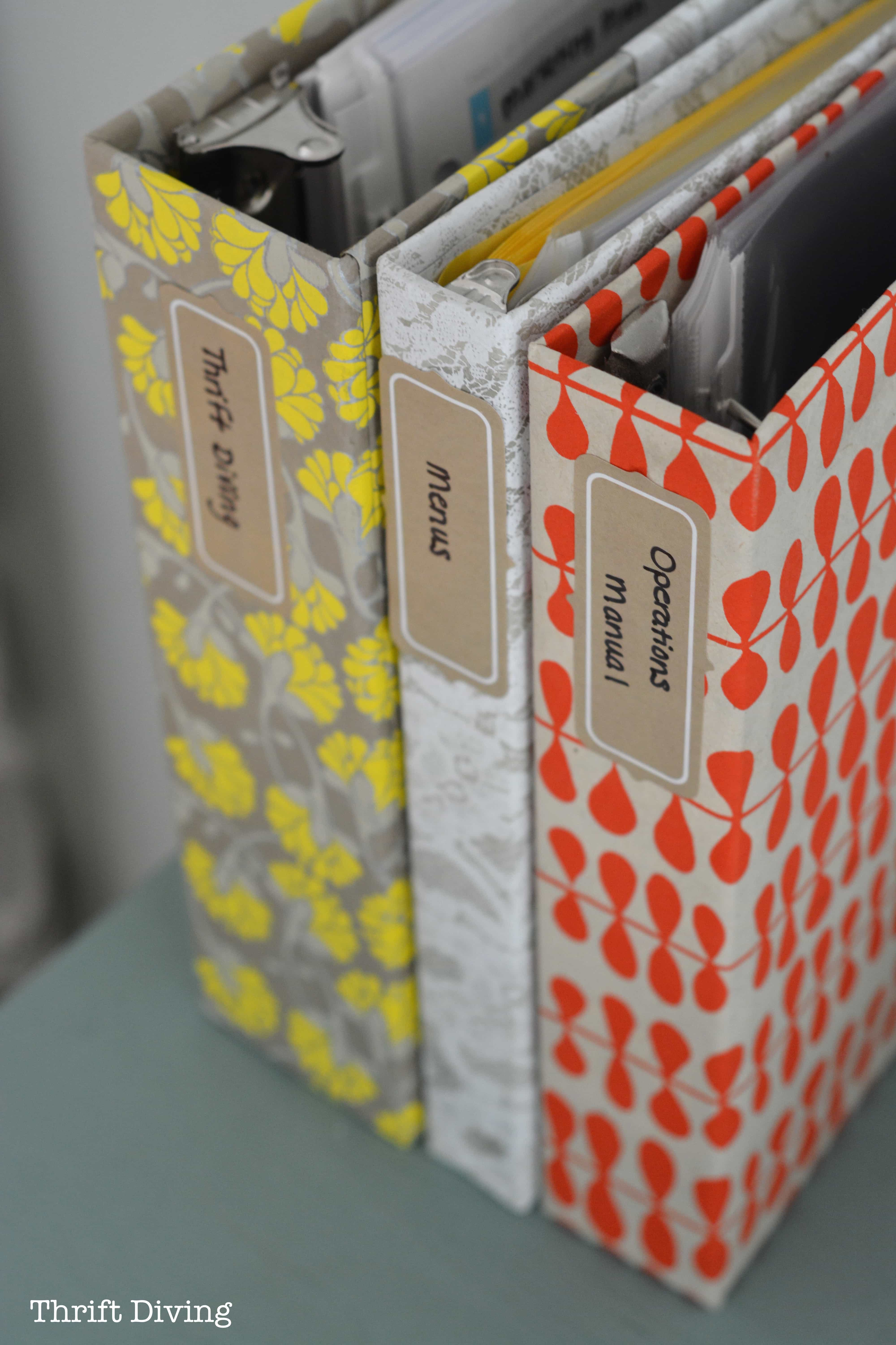 How To Cover Ugly Binders With Pretty Paper Diy Notebooks